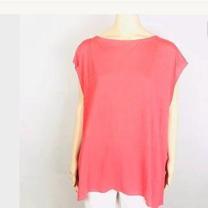 💚Eileen Fisher Top Organic Linen Jersey XL NWT💚